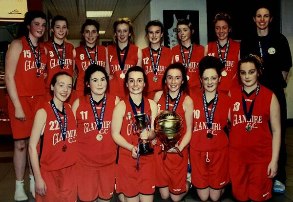 Cork basketball: Niamh Dwyer with Glanmire Community College school team that won the cup in 2013.