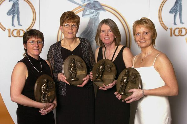 Sandie Fitzgibbon, Marie Costine O'Donovan, Pat Moloney Lenihan and Linda Mellerick, were named on the Camogie Team of the Century. Picture: Brendan Moran/SPORTSFILE