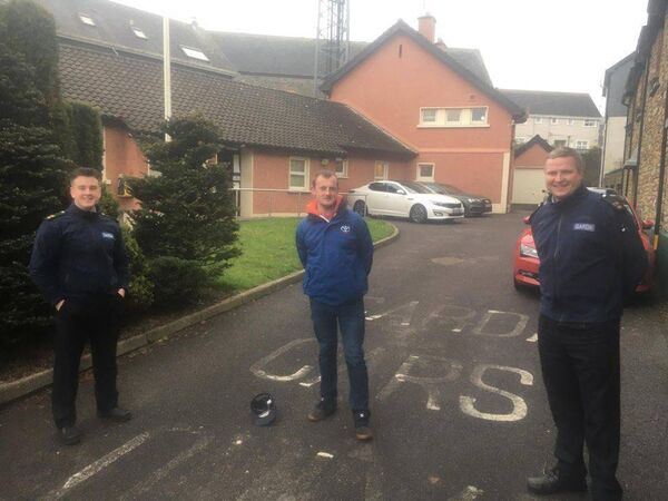 Garda Cormac Dineen and Garda Pádraig Walsh invited Dave Horgan from Douglas who attends the Brook Day Centre to give them a dig out for the day.