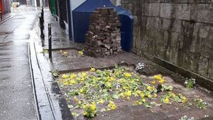 Man charged with digging up Cork city centre footpaths