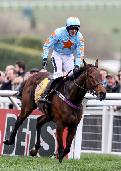 Un De Sceaux ridden by Ruby Walsh comes home to win the third race of the day in 2017 at Cheltenham. Picture: INPHO/Dan Sheridan