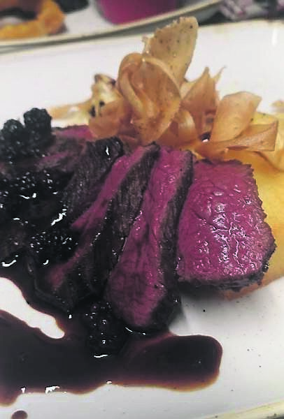 Venison from Jacques restaurant.