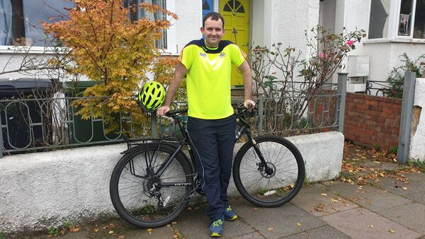 PEDAL POWER: Hugh McCarthy got his bike at Christmas, 2015, and gradually began to set out on trips around his locality.