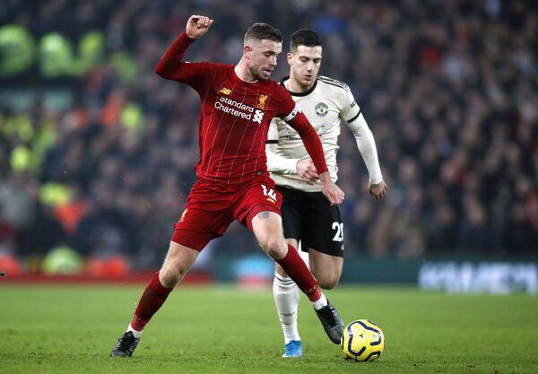 Liverpool's Jordan Henderson is a good midfielder but not a great one. Picture: Martin Rickett/PA Wire.
