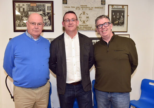 Brian Twomey (centre) current chairman with former chairmen Martin Knox and Paul Murphy.