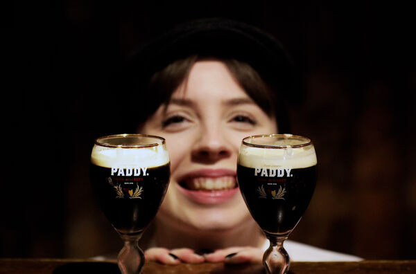 Leah O'Sullivan Paddy Brand Ambassador pictured on International Coffee Day in the Old Storehouse Temple Bar
