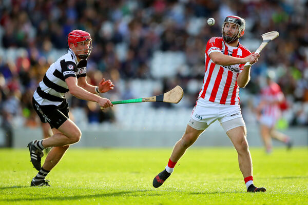 Imokilly's Paudie O'Sullivan with James Nagle of Midleton. Picture: INPHO/Oisin Keniry