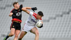 Cork footballers push past Storm Ciara and Down challenge to top Division 3