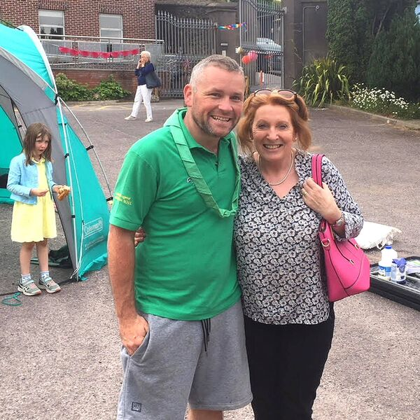John Maher photographed with former Labour TD Kathleen Lynch in 2018.Photo Frank Daly
