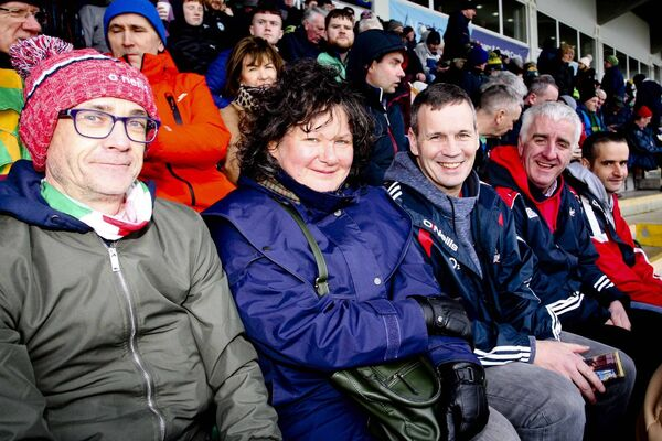 Cork supporters Edward Creedon, Catherine McGovern, John O'Connor, Aidan McGovern and Anthony Hayes. Picture: James Molloy