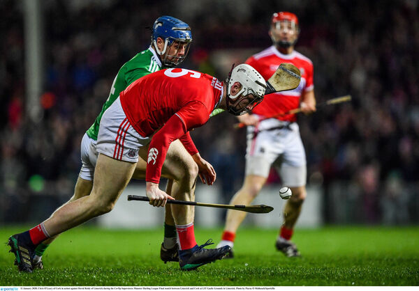 Chris O'Leary of Cork in action against David Reidy. Picture: Piaras Ó Mídheach/Sportsfile
