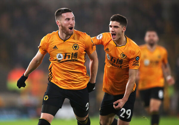 Wolverhampton Wanderers' Matt Doherty (left) celebrates scoring his side's winner against Man City over the Christmas period. Picture: Nick Potts/PA Wire.