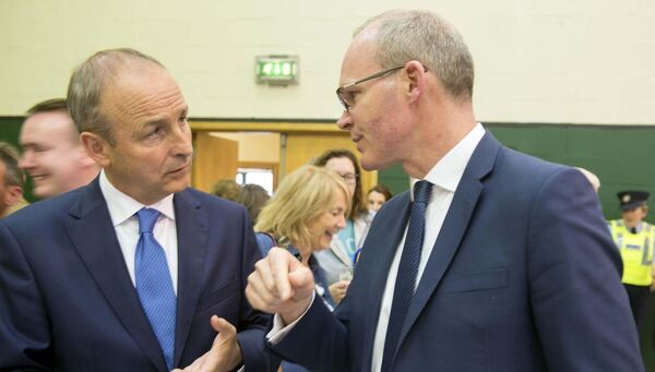 Provision 200519Micheal Martin and Simon Coveney at Euro Election South at Nemo, CorkPic Michael Mac Sweeney/Provision