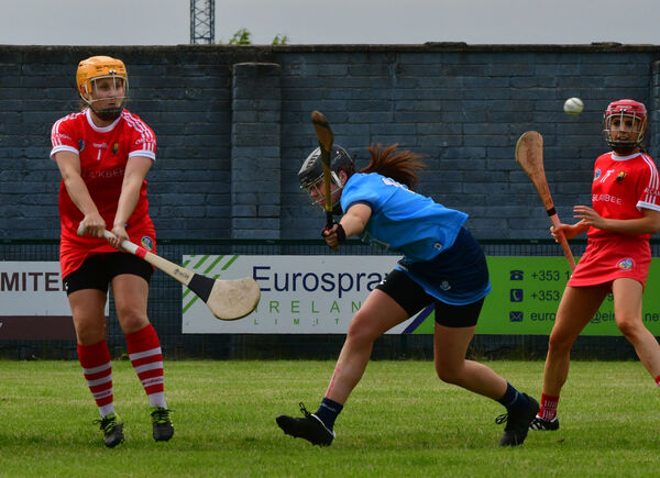Cork's goalkeeper Aoife Murray clears her lines. Picture: Moya Nolan.