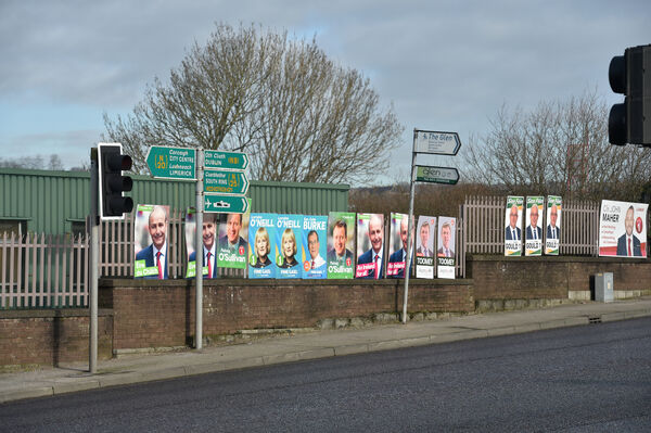 Election posters on the North Ring Road, Cork. Picture Dan Linehan