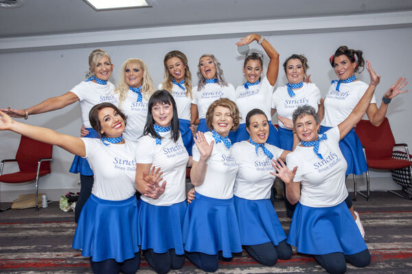 The female section who took part in the Strictly Brian Dillons 2020 fundraising dance show which took place at the Clayton Hotel Silver Springs.Pic: Brian Lougheed