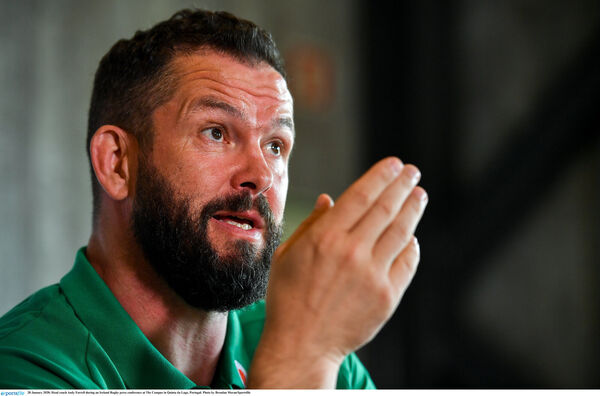Head coach Andy Farrell during an Ireland Rugby press conference. Picture: Brendan Moran/Sportsfile