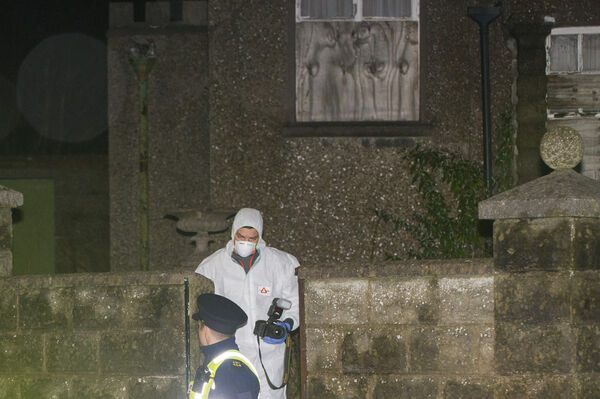 Gardai pictured at the property on the Boreenmana Road, Cork city where it is believed a man sustained severe injuries prior to his death.Pic Daragh Mc Sweeney/Provision