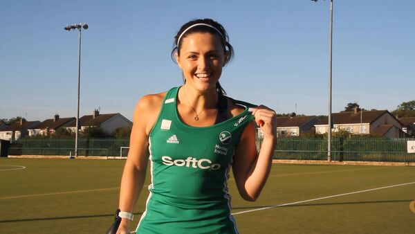 Roisin Upton. Queen B are the official sports bra provider for the Irish hockey team, heading to the Olympic games in Tokyo this year.