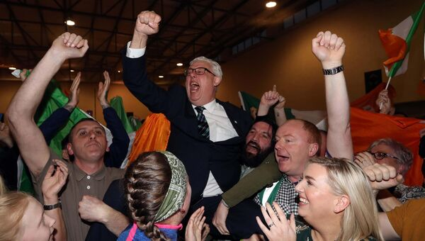 General Election 2020, Cork South Central and Cork North Central, Count Centre at Nemo Rangers Hurling and Football Club, Trabeg Sports Centre, South Douglas Road, Cork.Picture: Jim Coughlan.