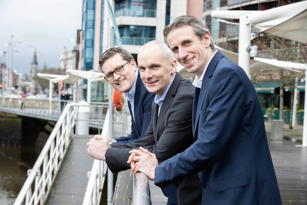 Pictured at the announcement that Granite Digital is creating 50 new jobs across its Dublin, Cork and Galway offices are (L-R): Rob Carpenter, director and co-founder; Seamus White, director and co-founder; and Conor Buckley, CEO, at Granite Digital.