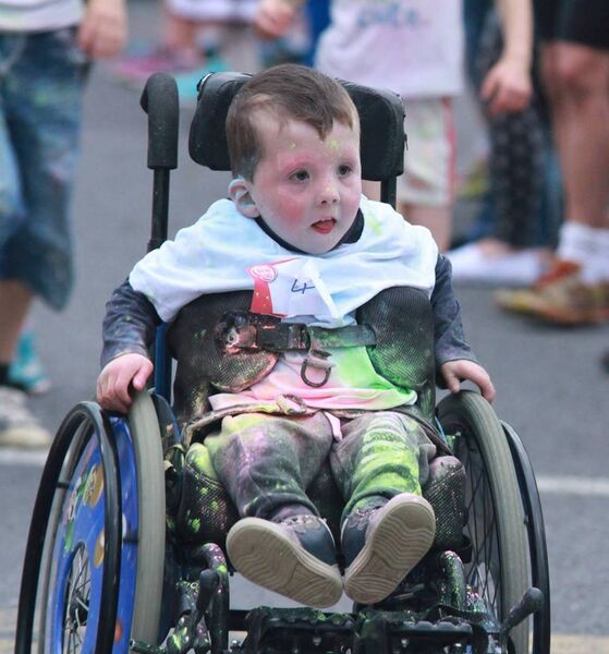 Noah Myers taking part in a colour run in Mitchelstown in 2015.