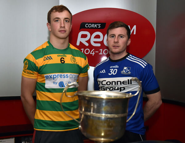2019 rivals Blackrock Michael O'Halloran and William Kearney, Sarsfields.Picture: Eddie O'Hare