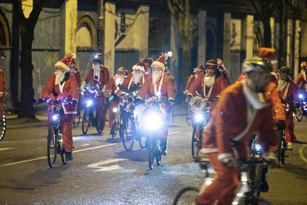 Avril Screenan of Togher Cork Santa Cycle in aid of Cappagh Kids. Picture Clare Keogh