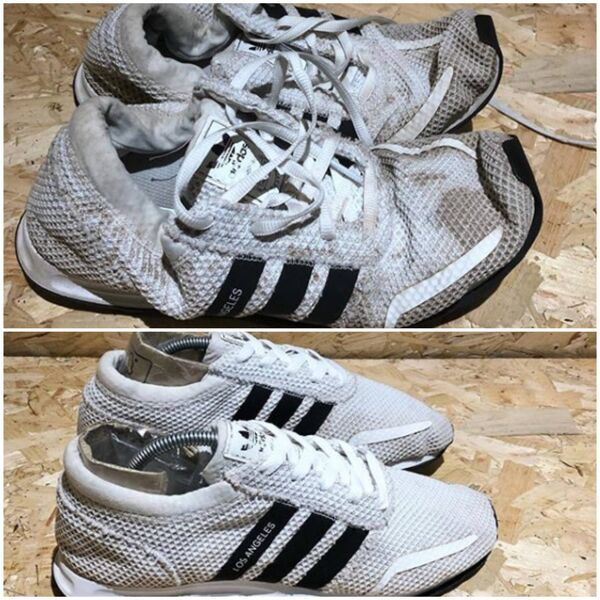 Adidas trainers given a new lease of life by Sneaky Clean.