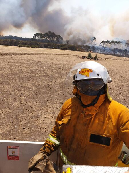 Noel Fealy emigrated to Australia in 2008 and is a member of Country Fire Service (CFS), a voluntary organisation which assists in tackling bushfires.
