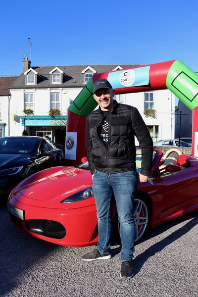 Norman Crowley beside an electric Ferrari he brought to the recent CoolClon event in Clonakilty. Pictures: Ciarán Forsythe
