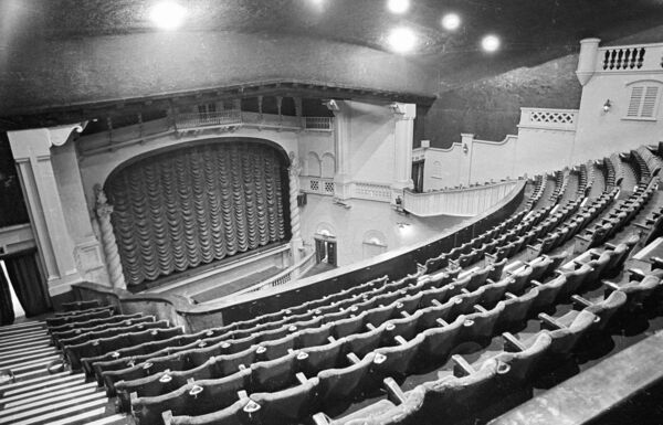 Interior views of the Savoy Cinema Cork in 1973.