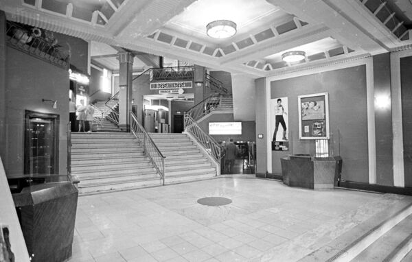 The atrium of the Savoy Cinema Cork in 1973.