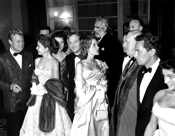 Attendees of the Cork Film Festival at the Savoy Cinema in May 1956. Included are Noel Purcell and Liam Cosgrave, former Taoiseach.