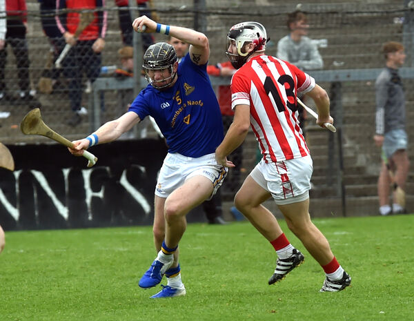 St Finbarr's Damien Cahalane bursting out from Imokilly's Paudie O'Sullivan. Picture: Eddie O'Hare