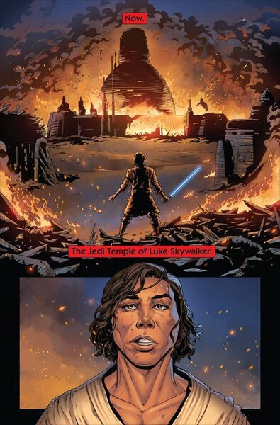 The Rise of Kylo Ren, drawn by Cork comic artist Will Sliney.