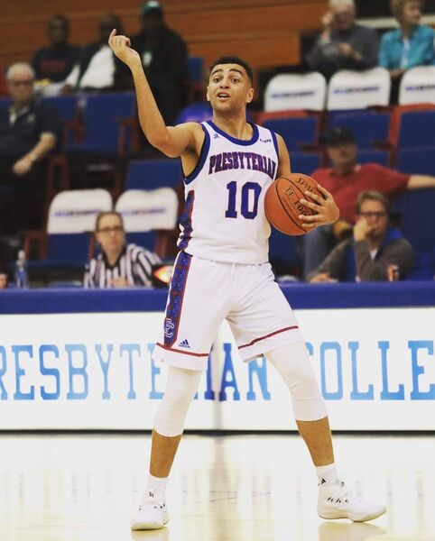 Sean Jenkins in action with Presbyterian College against Clemson University this season.