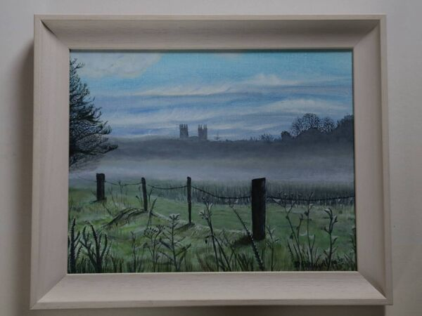 A painting by Deirdre Pattwell called 'Morning Mists'