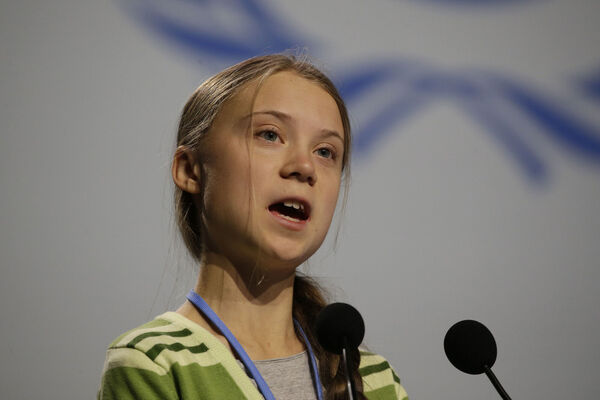 Swedish climate activist Greta Thunberg. Picture: AP Photo/Paul White.