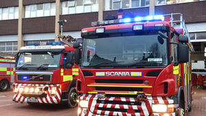 Firefighters battle city centre fire