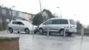 Bizarre video of cars ramming in Cork city suburb; People urged to contact gardaí