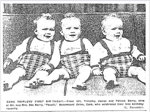 Evening Echo Archives: A photo of Cork triplets that appeared in the Evening Echo on December 23, 1967.