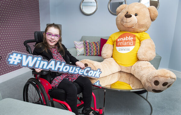Claire McCarthy from Carrigaline pictured at Enable Ireland's launch of Win A House Cork.