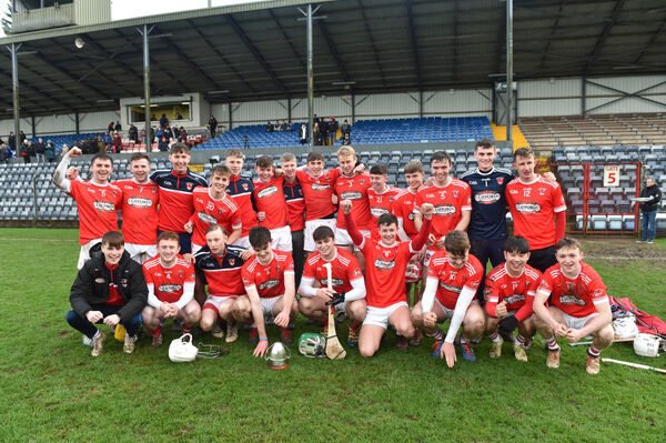 The Castlemartyr team celebrate their victory over Killavullen at Páirc Uí Rinn. Picture: Dan Linehan