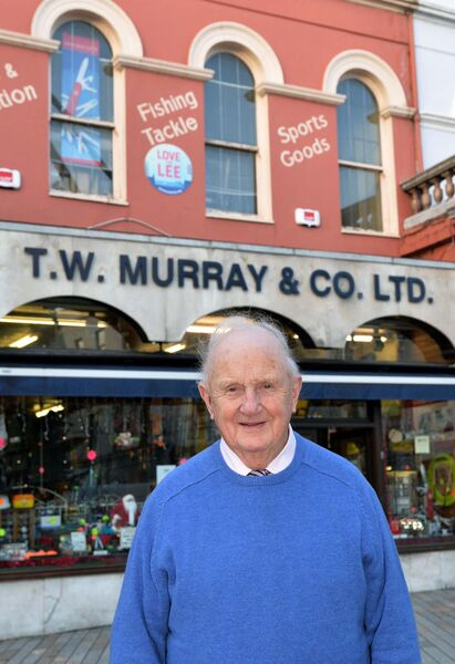John O'Connell, managing director, T.W. Murray & Co. Ltd., St. Patrick's St., Cork, pictured in front of the business.Picture Denis Minihane.