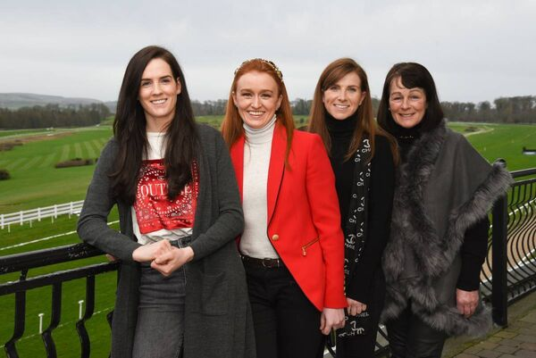 At the Thyestes chase launch: Rachael Blackmore, Jane Mangan, Lisa O'Neill and Margaret Mullins at Gowran Park. Picture: Vicky Comerford