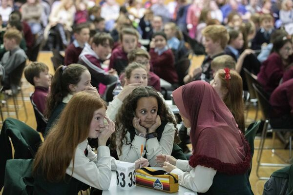 Tina Fleming, Amelia Norwood and Aaliyah Dalamba of Scoil Mhuire Ballincollig.