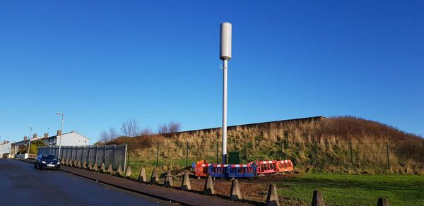 The phone mast at the entrance to Ardcullen in Hollyhill.