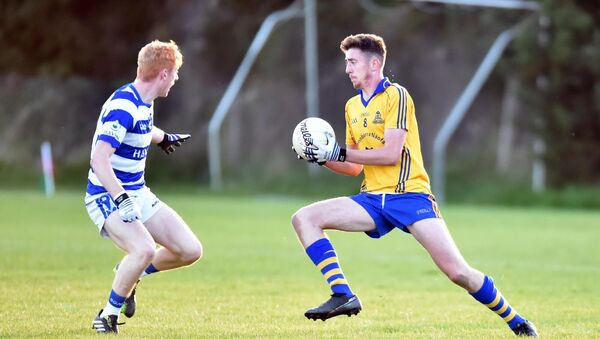 St Finbarr's Ethan Twomey takes on Castlehaven's Jack Cahalane during the Rebel Óg Premier 2 semi-final at Clonakilty. A new U19 age grade next season would feature those players. Picture: Eddie O'Hare