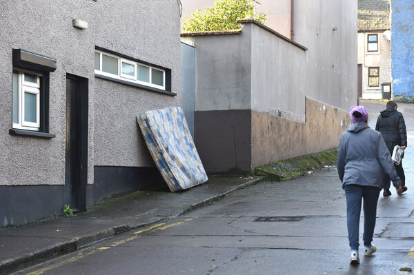A mattress left on the side of the road at Broad lane in Blackpool, Cork today. Picture Dan Linehan